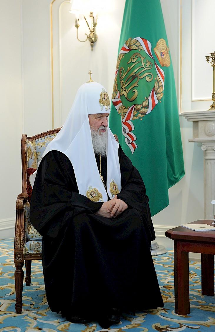 Патриарх Кирилл: Хочу поблагодарить за добрые связи ...: http://for.kg/news-428564-ru.html